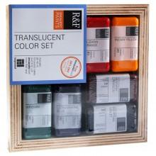 R&F : Encaustic (Wax Paint) : Translucent Colour Set