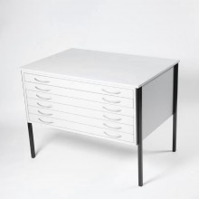 Vistaplan : Wooden Economy Planchest : 6 Drawer A0 : Grey : UK Only