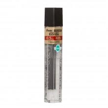 Pentel : Super Hi-Polymer : 0.5mm Lead Refill : Pack of 12 for XP205 : 4B