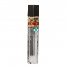 Pentel : Super Hi-Polymer : 0.5mm Lead Refill : Pack of 12 for XP205 : B
