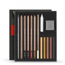 Caran d'Ache : Art By : Sketching Set of 15 : Flesh and Earth Colors
