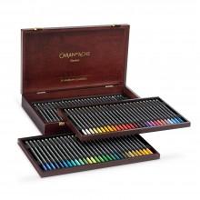 Caran d'Ache : Museum Aquarelle : Wooden Box Set of 76 Assorted Colors