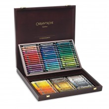 Caran d'Ache : Neocolor II : Watercolor Crayon : 84 in a Wooden Box