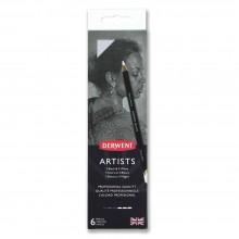 Derwent : Artists : Black & White Pencil : Metal Tin Set of 6