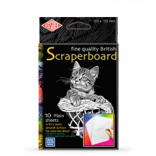 Essdee : Scraperboard : White : 152x101mm : Pack of 10 Sheets