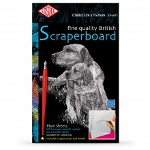 Essdee : Scraperboard : White : 229x152mm : Pack of 10 Sheets
