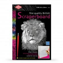 Essdee : Scraperboard : White : 305x229mm : Pack of 10 Sheets