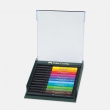 Faber Castell : Pitt Artist Brush Pen : Set of 12 : Intensive Colours