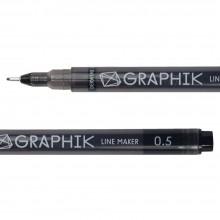 Derwent : Line Maker Pen : Black : 0.5mm