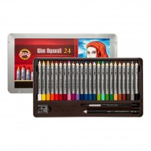 Koh-I-Noor : Wax Watercolor Pencils : Tin Set of 24