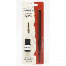 Manuscript : Dip Pen Holder & Ink Set : Black