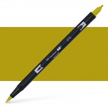 Tombow : Dual Tip Blendable Brush Pen : Green Ochre