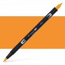 Tombow : Dual Tip Blendable Brush Pen : Orange
