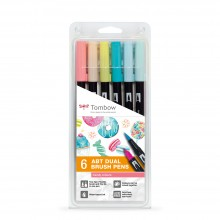 Tombow : Art Dual Brush Pens : Candy Colors : Set of 6