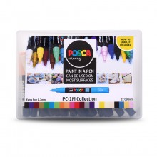 Uni : Posca Marker : PC-1M : Extra-Fine Pin Tip : 0.7mm : Assorted Colors Set of 22