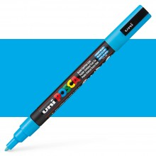 Uni : Posca Marker : PC-3M : Fine Bullet Tip : 0.9 - 1.3mm : Light Blue