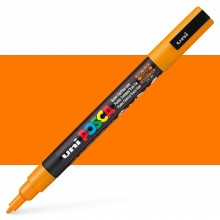 Uni : Posca Marker : PC-3M : Fine Bullet Tip : 0.9 - 1.3mm : Bright Yellow (Orange)