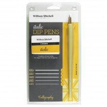William Mitchell : Calligraphy : Italic Dip Pen : 5 Nibs and Holder
