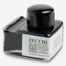 Zecchi : Historic Pigment Drawing Ink : 50ml : Oak Gall Black