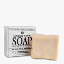Chelsea Classical Studio : Lavender & Olive Oil Brush Soap : 4oz (118ml)