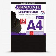 Daler Rowney : Graduate Mountboard A4 : Black : Pack of 12
