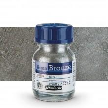 Schmincke : Aqua Bronze Powder : 20ml : Silver : Ship By Road Only