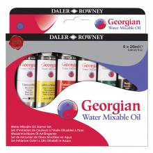 Daler Rowney : Georgian Water Mixable Oil Paint : Starter Set : 20ml : Set Of 6
