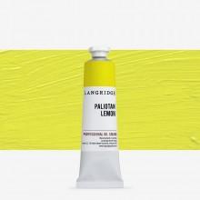 Langridge : Oil Paint : 40ml : Paliotan Lemon