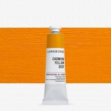 Langridge : Oil Paint : 40ml : Cadmium Yellow Deep