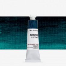 Langridge : Oil Paint : 40ml : Turquoise Phthalo
