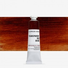 Langridge : Oil Paint : 40ml : Transparent Red Oxide