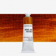 Langridge : Oil Paint : 40ml : Nickel Azo Red Gold