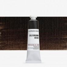 Langridge : Oil Paint : 40ml : Cold Brown Oxide