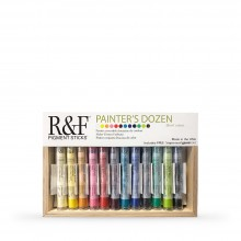 R&F : Pigment Stick Set : 38ml : Painters Dozen Set 1 : 12 Colours