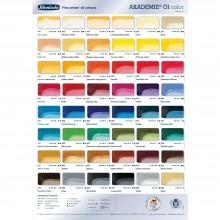Schmincke : Akademie Oil Paint : Color Chart