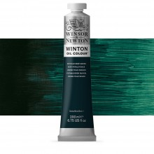 Winsor & Newton : Winton Oil Paint : 200ml : Phthalo Deep Green