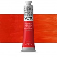 Winsor & Newton : Winton Oil Paint : 200ml : Cadmium Scarlet Hue