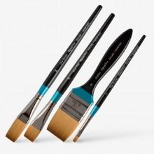 Daler Rowney : Aquafine Watercolor Brushes : Flats