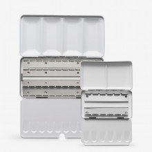 JAS : Empty Metal Watercolor Boxes : For Pans