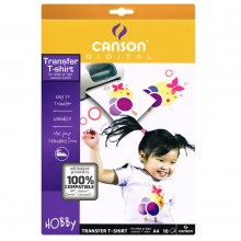 Canson : T-Shirt Transfer Paper : Inkjet Coated : A4 : Pack of 10