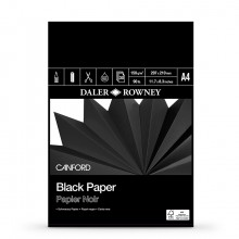 Daler Rowney : Canford : Black Paper : Pad : 150gsm : 30 Sheets : A4