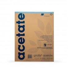 Grafix : Clear Acetate Pad 11x14in .003in : 25 Sheets