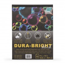 Grafix : Dura Bright : 0.010in : Opaque Black : 9x12in : Pad : 12 Sheets