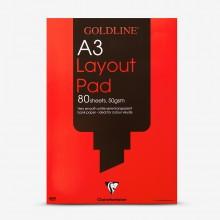 Goldline : Layout Pad : 50gsm : A3 29.7x42cm