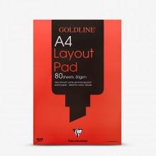 Goldline : Layout Pad : 50gsm : A4 21x29.7cm