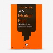 Goldline : Bleedproof Marker Pad : 70gsm : A3 29.7x42cm