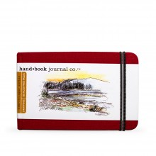 Hand Book Journal Company : Drawing Journal : 3.5x5.5in : Landscape : Vermilion Red