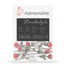 Hahnemuhle : Nostalgie Sketch Pad : 190gsm : 25 Sheets : Natural White : A1