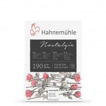 Hahnemuhle : Nostalgie Sketch Pad : 190gsm : 50 Sheets : Natural White : A4