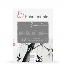 Hahnemuhle : Sumi E : Japanese Ink Paper Pad : 80gsm : 30x40cm : 20 Sheets